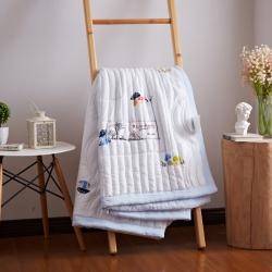(总)乐朴家纺 日式水洗棉绗缝夏被