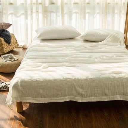 色织生活 三层纱盖毯 白色