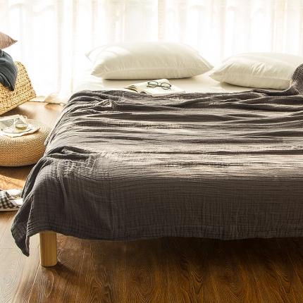 色织生活 三层纱盖毯 咖色
