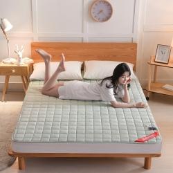 金圣伦2019新款面包格全棉床垫薄款(1.5cm)薄款-浅绿