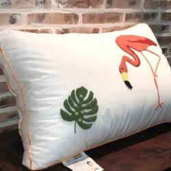 剑桥枕业  火烈鸟全棉羽丝绒枕头 独家配比超细旦纤维枕芯
