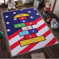 名织坊 全棉卡通地垫爬爬垫童年乐趣