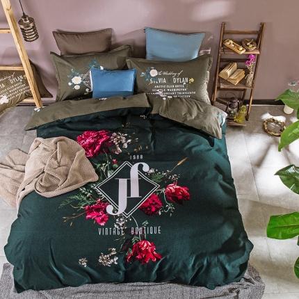 (总)798家纺 简美花卉时尚系列四件套