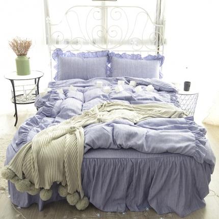 798家纺 色织床裙工艺款瑰梦
