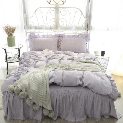 798家纺 色织床裙工艺款慕蕊