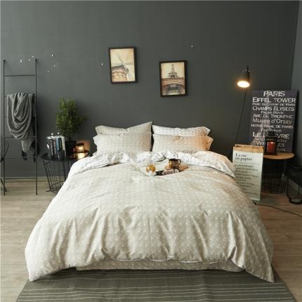 (总)798家纺 轻奢简约风全棉四件套床单款