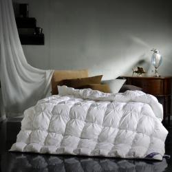 富旺家纺 单边法式米字格羽绒被 白色