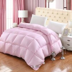 企茂羽绒 全棉羽绒冬被粉色