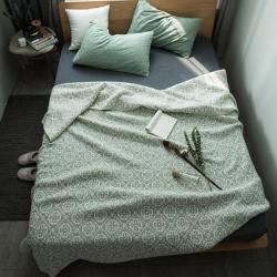 (总)纯品家纺 全棉水洗色织提花多层纱盖毯