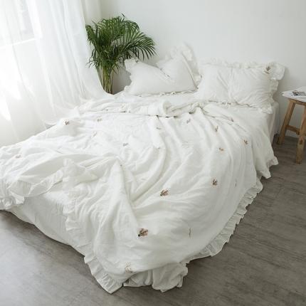 (总)纯品 coco小香风仙人掌水洗棉夏被式被套(含芯)套件