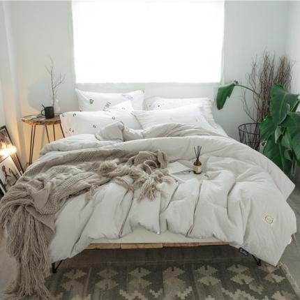纯品家纺 麻彩水洗棉系列冬被麻彩水洗棉灰
