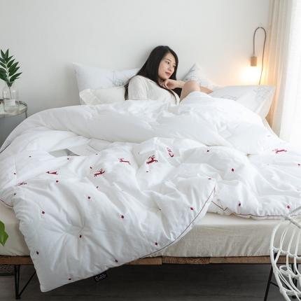 (总)纯品家纺 纯棉暖绒精致刺绣系列被子