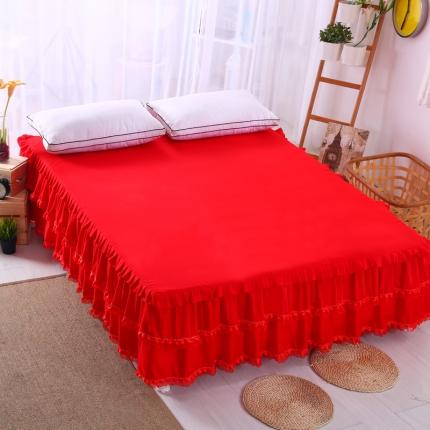 (总)麦蕾迪家居 磨毛纯色床裙