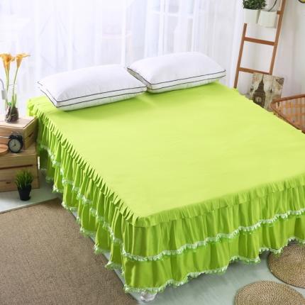 麦蕾迪家居 磨毛纯色床裙 果绿