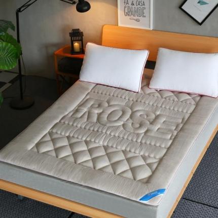 麦蕾迪家居 彩棉色织水洗床垫 米色