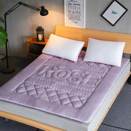 麦蕾迪家居 彩棉色织水洗床垫 浅紫