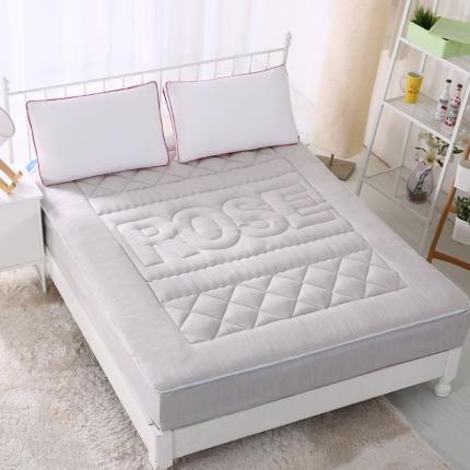 麦蕾迪家居 彩棉色织水洗床垫式床笠 灰色