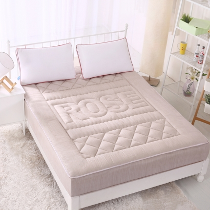 麦蕾迪家居 彩棉色织水洗床垫式床笠 米驼
