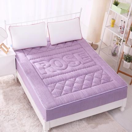 麦蕾迪家居 彩棉色织水洗床垫式床笠 紫色