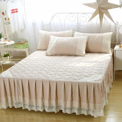 麦蕾迪 水洗棉芳心床裙浅驼