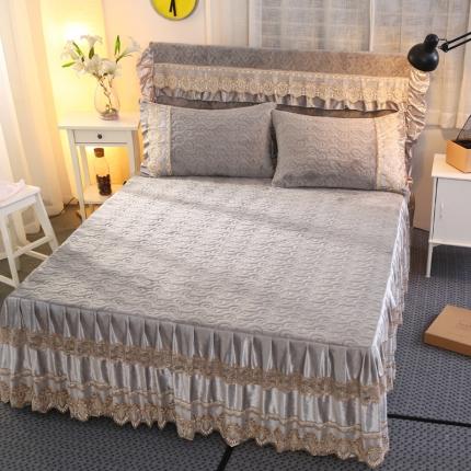 (总)麦蕾迪家纺法莱绒夹棉单品床裙