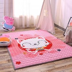 乐事家纺 地垫系列 猫咖甜心