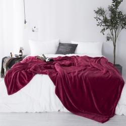 (总)城愉悦家纺 纯色法莱绒毛毯