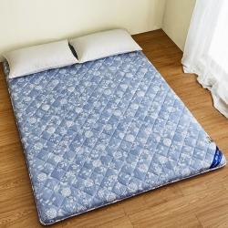 锦丝钰床垫 日式榻榻米竹炭磨毛印花床垫(7厘米)天空蓝
