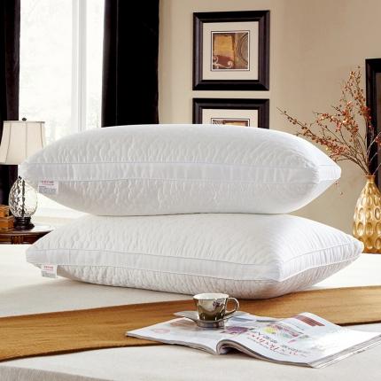 兴煌枕业 高档宾馆用枕芯 全棉贡缎纪念款