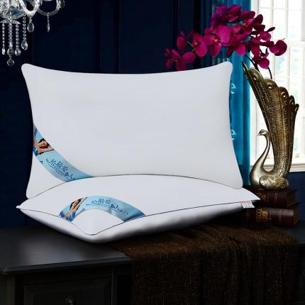 兴煌枕业 高档宾馆用枕芯 全棉经济款蓝