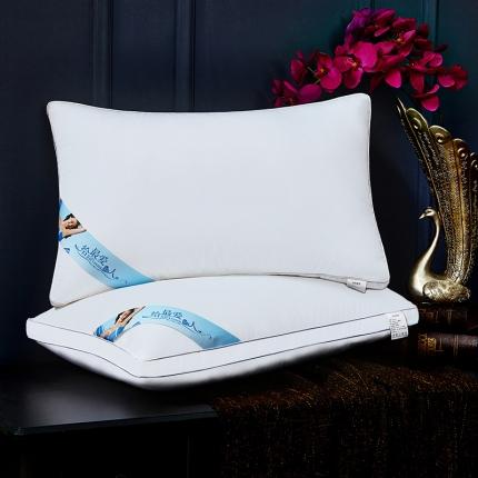 兴煌枕业 高档宾馆用枕芯 全棉奢华款蓝