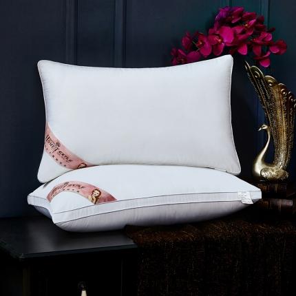 兴煌枕业 高档宾馆用枕芯 全棉奢华款红