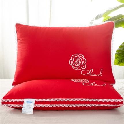 兴煌枕业 立体羽丝绒枕芯婚庆(玫瑰)高