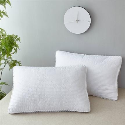 兴煌枕业  2018新款全棉绗缝枕芯 白色