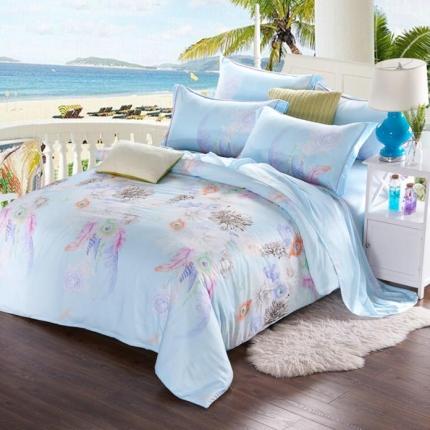 米兰家纺 天丝四件套床单款 玻璃时光