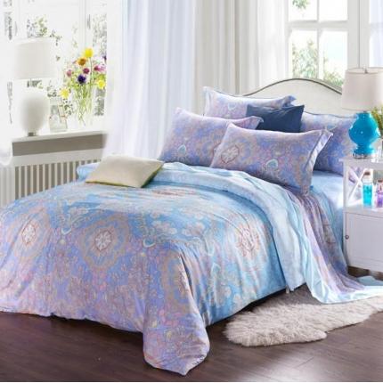 米兰家纺 天丝四件套床单款 洛维思