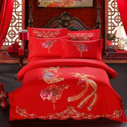 米兰家纺  新款婚庆多件套组合 龙腾凤舞