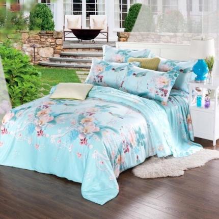 米兰家纺 天丝四件套床单款 香语幽-绿