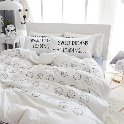 (总)惊叹号  水洗棉绣花四件套床单款