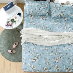 米方家纺 芦荟棉床笠三件套 花园假期