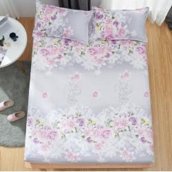 米方家纺 芦荟棉床笠三件套 爱的花海-紫