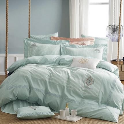 (总)卓慕家纺 全棉色纺色织四件套 摩卡-2色系列