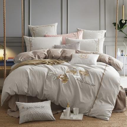 (总)卓慕家纺 全棉色纺色织 香颂-2色系列