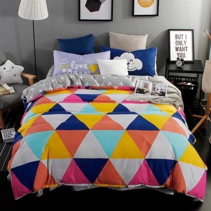 雅希兰家纺 平网四件套彩色几何