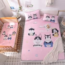 (总)哈喽家居 冰丝冰感空调凉席床单款婴童凉席