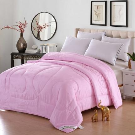 织美家纺 纯棉提花棉花被粉色提花