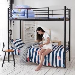 九平道家纺 学生三件套床单款0.8m-1.2m床通用 火烈鸟
