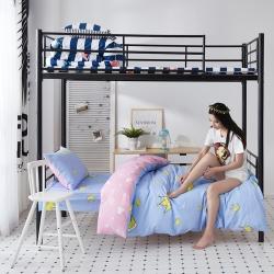 九平道家纺 学生三件套床单款0.8m-1.2m床通用美丽皇冠