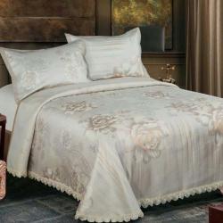 (总)席之家 床单式提花凉席冰丝席三件套