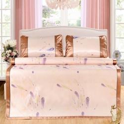 (总)席之家 印花冰丝床单三件套